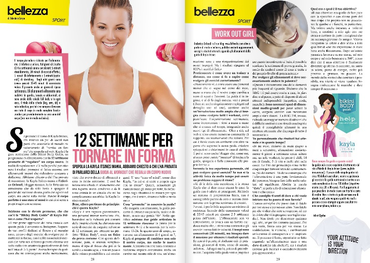 intervista federica orlandi spray magazine bikini body guide