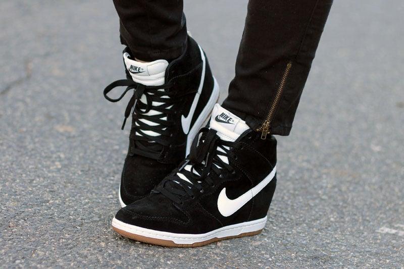 scarpe nike con zeppa bianche