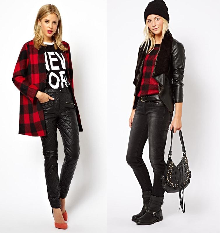 outfit asos trend tartan