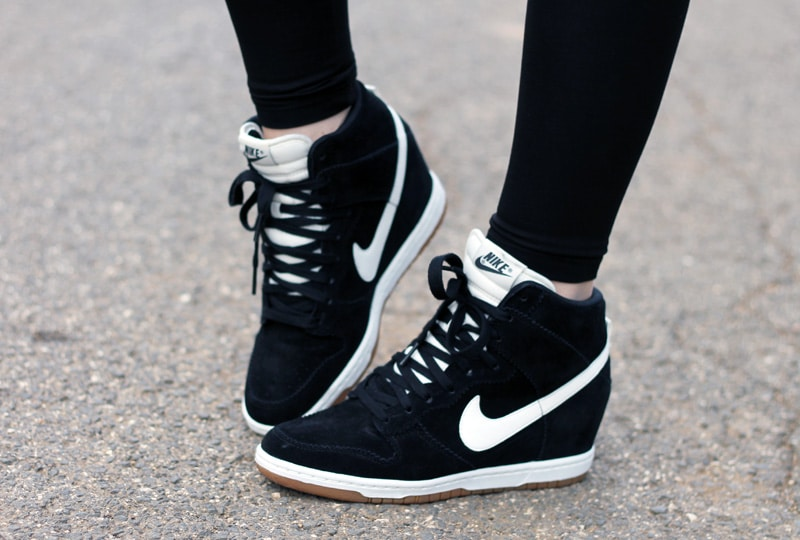 nike dunk sky hi shoes sneakers outfit
