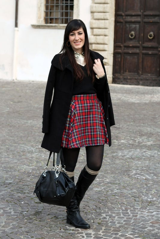 Gonna E Il Tartan Natale Outfit Mio Di Paillettes Dettagli 1WpPq0Ipr