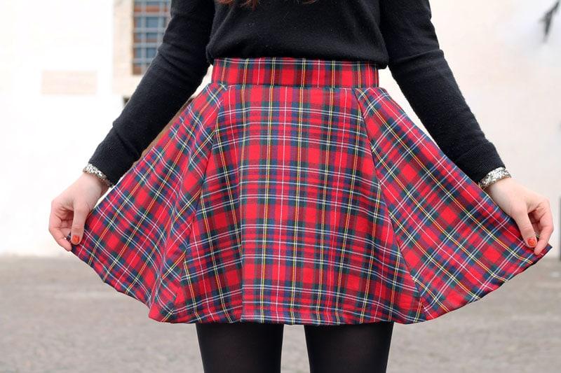outfit-natale-gonna-tartan-alcott