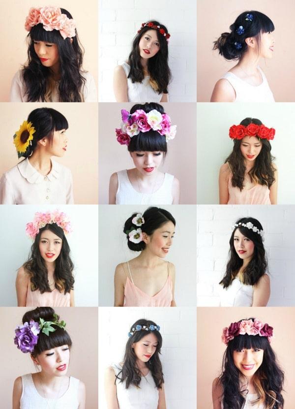 coroncine fiori acconciature capelli san valentino