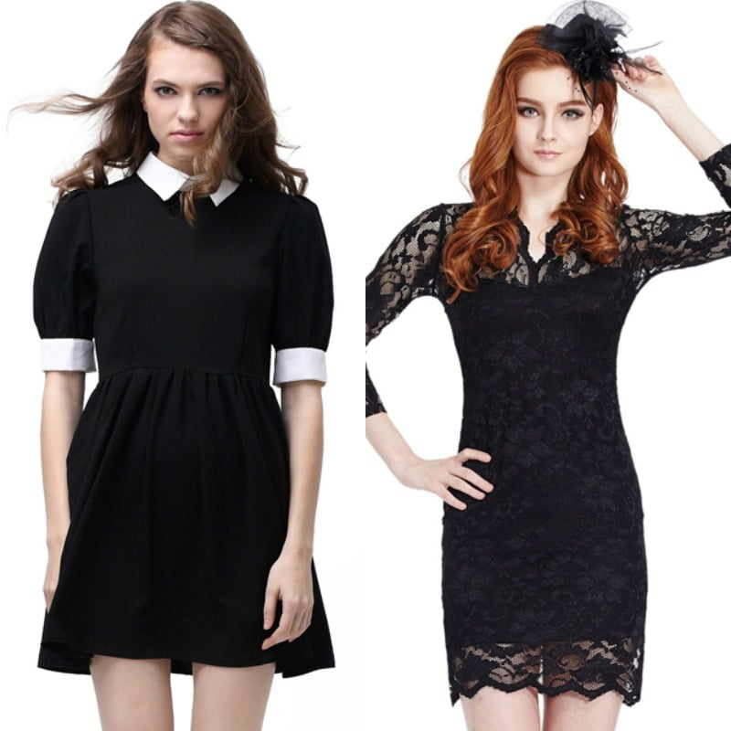 little black dress romwe fashion blogger roma
