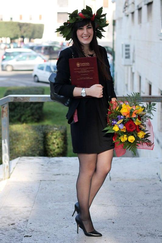 Lu2019outfit della mia Laurea tubino nero blazer e du00e9colletu00e9 | Le FreakS - Fashion Blogger Roma