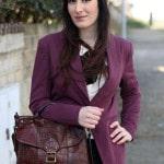 outfit preppy garçonne mannish pantaloni tartan zalando fossil vero moda fashion blogger roma
