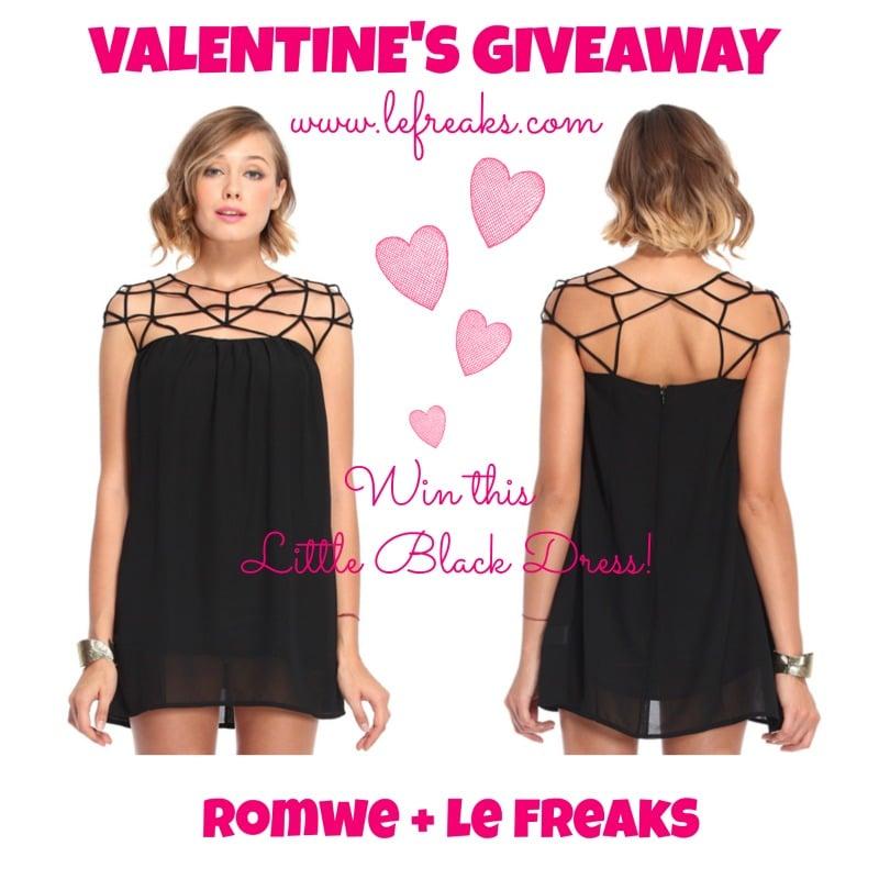 giveaway san valentino romwe little black dress