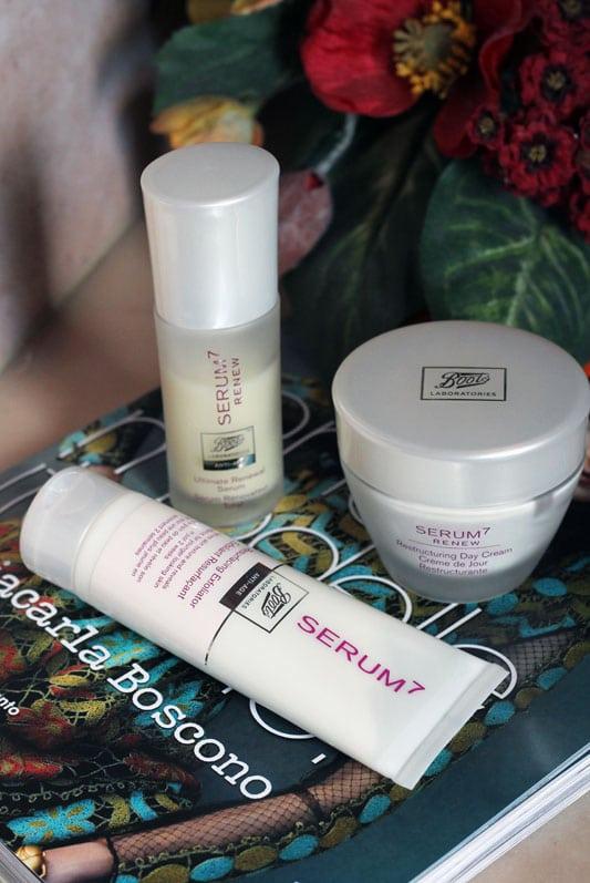 boots laboratories creme viso serum 7 optiva skincare beauty blogger roma