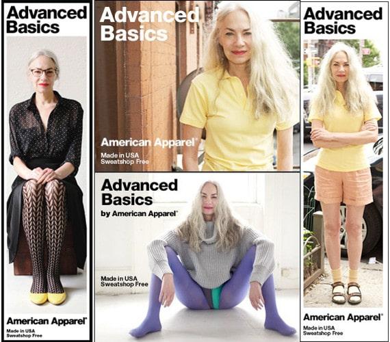 jacky o'shaughnessy modella 62 anni american apparel lingerie