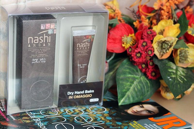 nashi argan dry oil perfect body hand-balm prodotti corpo crema mani skincare