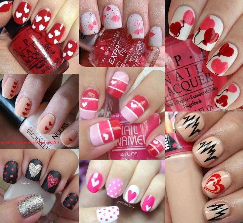 unghie san valentino smalto nails manicure romantica