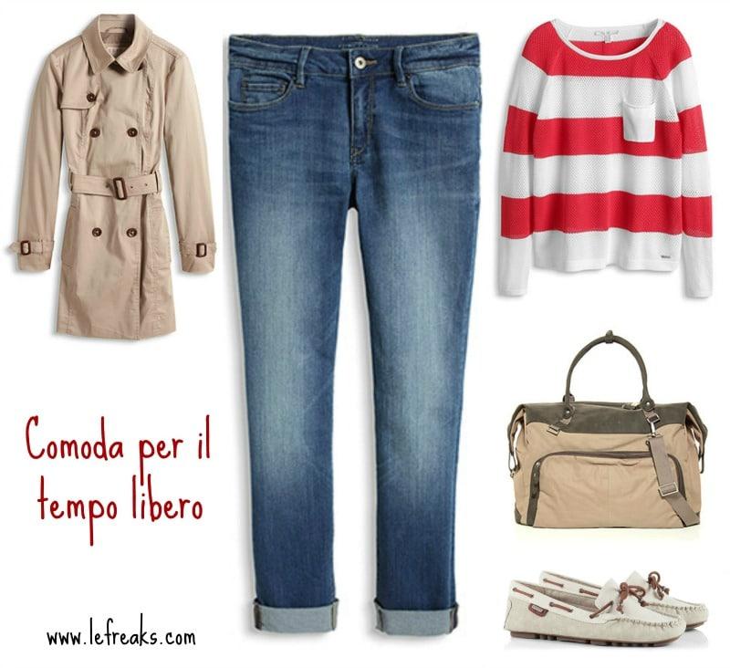 outfit comodo relax tempo libero esprit