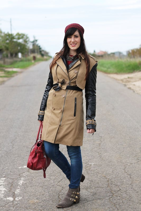 outfit con trench fashion blogger roma