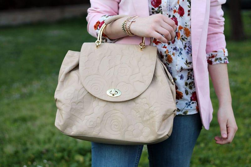 outfit primaverile con borsa braccialini scarpe stringate fashion blogger roma
