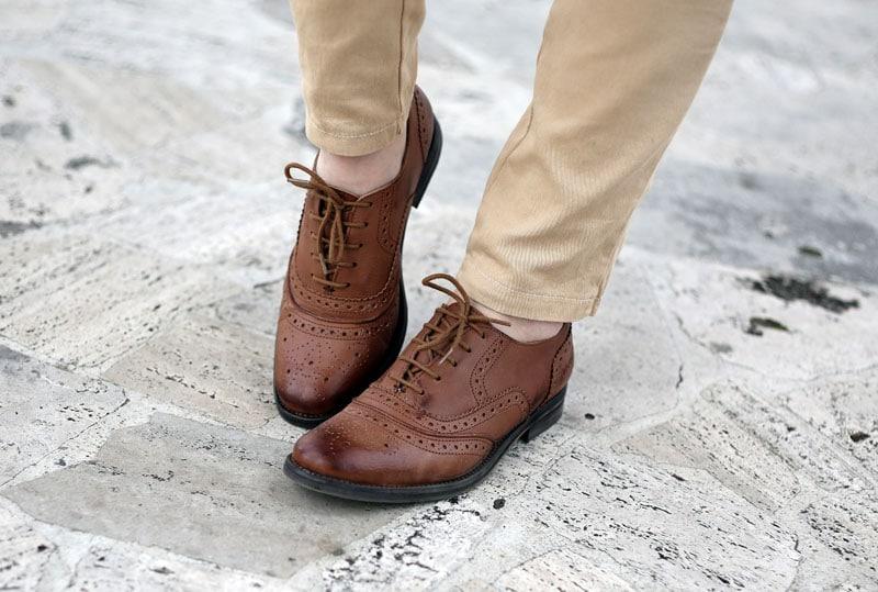 scarpe stringate cuoio dkode