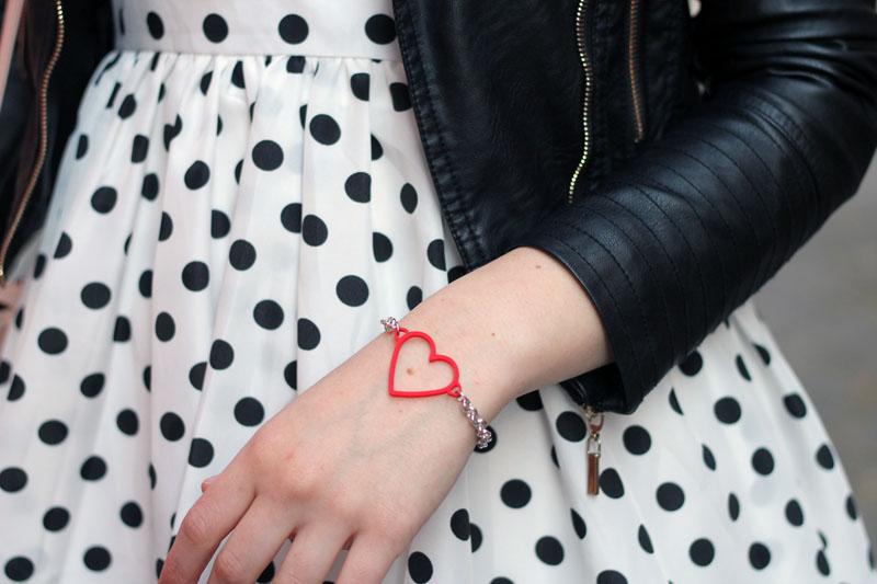 bracciale cuore romantico handy bag