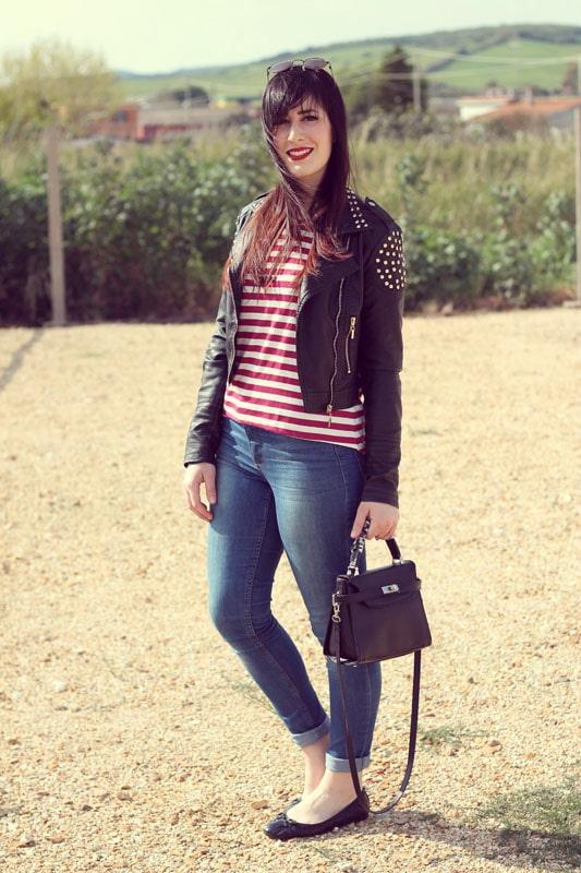 outfit stile anni 50 marinara vintage