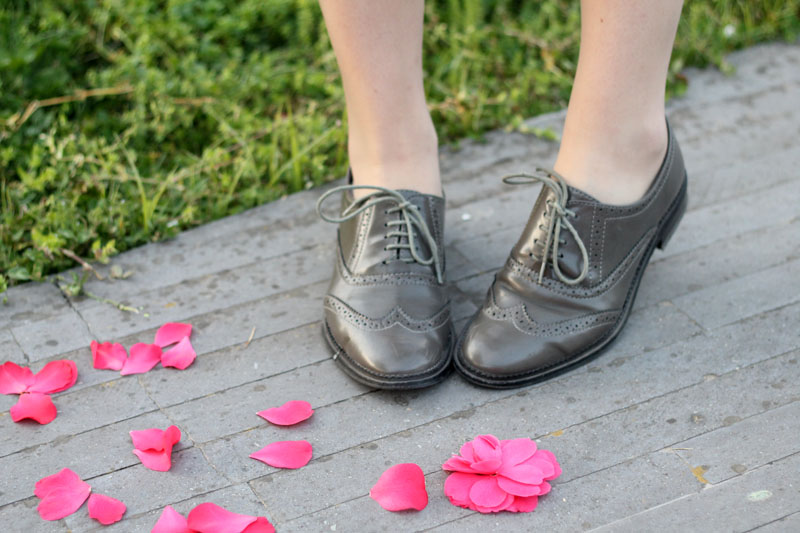 scarpe stringate cuoio