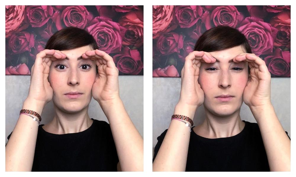 ginnastica facciale fronte