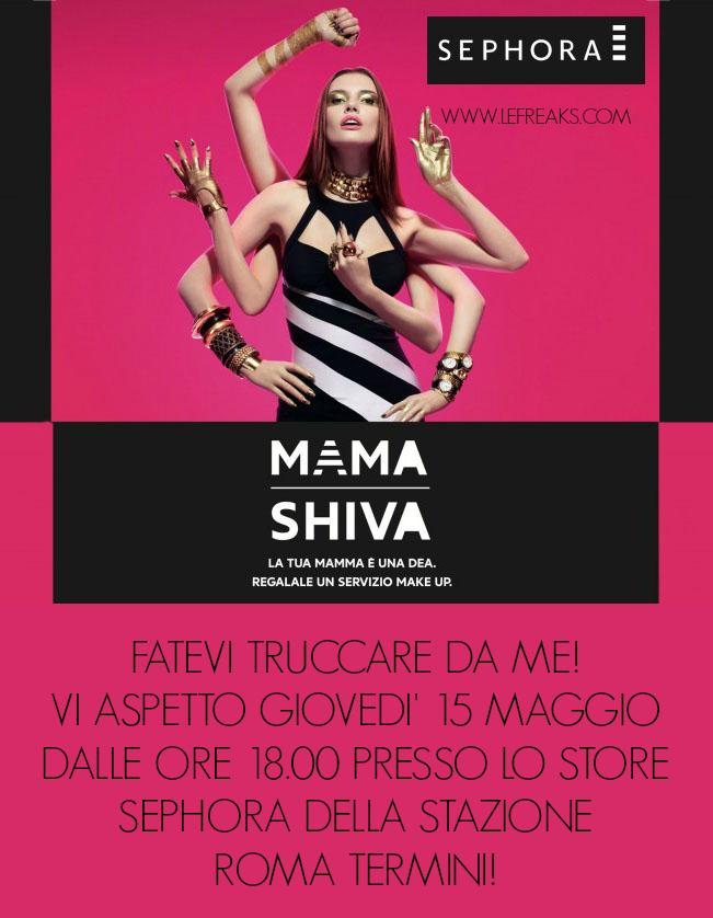 evento sephora mama shiva stazione roma termini federica orlandi make up