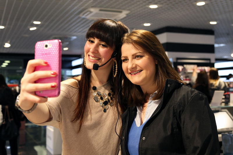 federica orlandi make up artist evento sephora beauty blogger roma