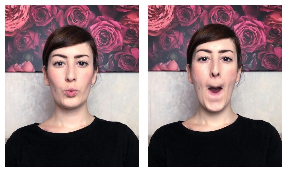 ginnastica facciale solchi naso labiali