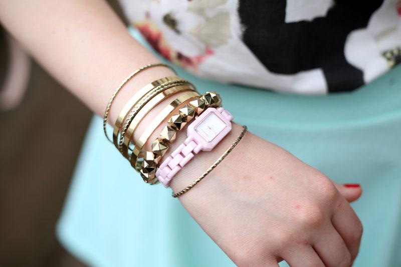 outfit orologio ceramica rosa ottaviani bijoux