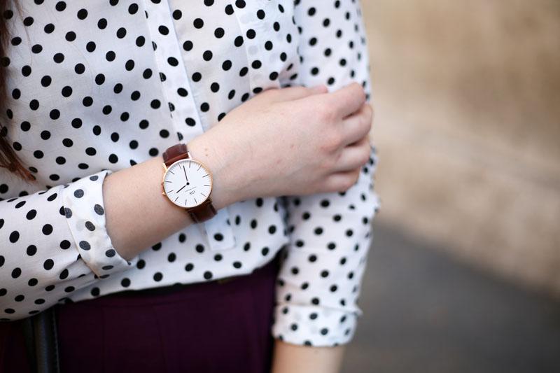 orologio daniel wellington  outfit fashion blogger roma