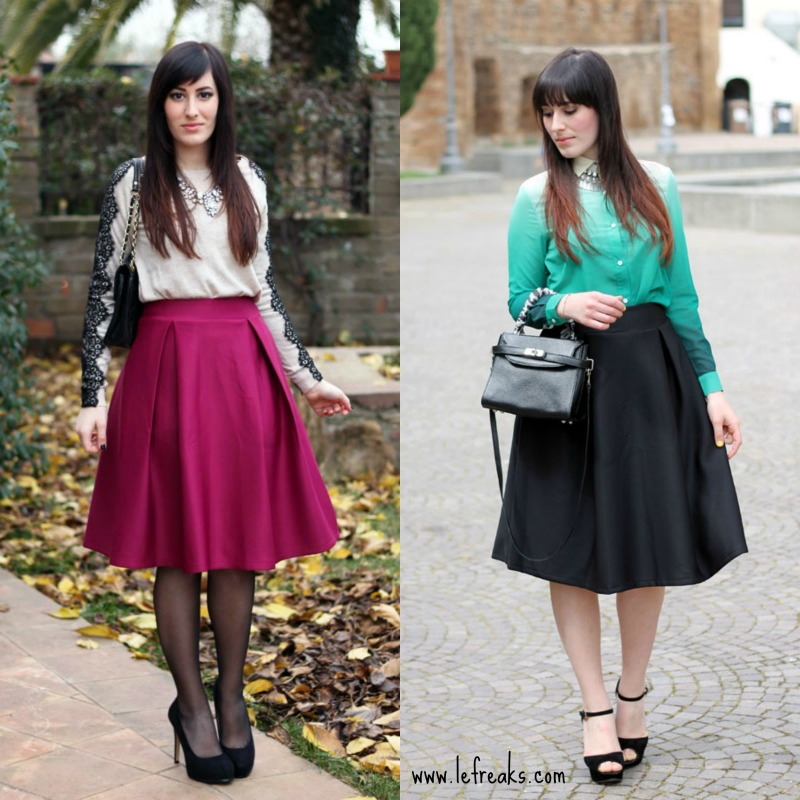 outfit come indossare la gonna longuette midi skirt