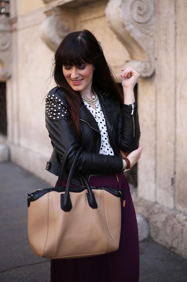 outfit gonna lunga camicia pois primark stivaletti tacco khrio fashion blogger roma