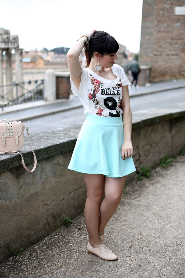 outfit-tshirt-blackfive-gonna-ruota-hm-borsa-steve-madden-fashion-blogger-roma-3