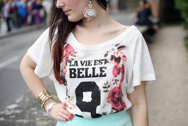 outfit gonna ruota hm tshirt blackfive borsa steve madden orecchini ottaviani bijoux