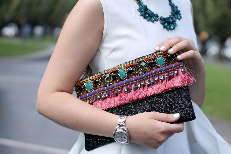 outfit elegante clutch gioiello ottaviani bijoux