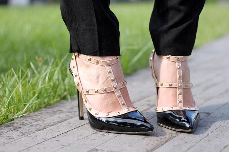 outfit elegante scarpe rockstud low cos