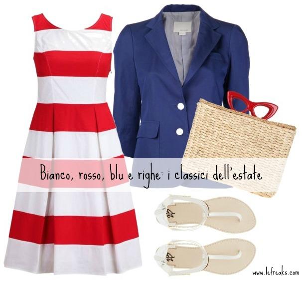 buy popular 5ac4b a0fc2 Bianco, rosso, blu e righe: i classici dell'estate per un ...