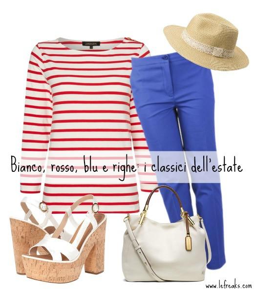 outfit estate marinara bianco rosso blu righe