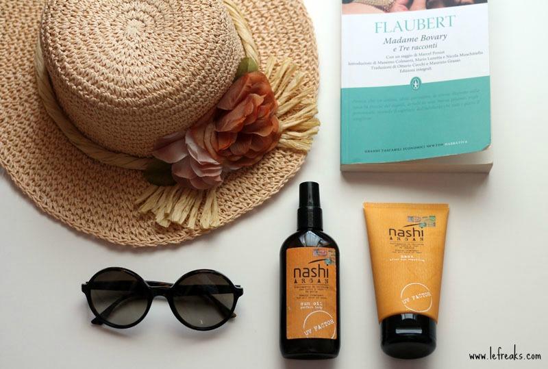 prodotti solari corpo capelli nashi argan protezione sole mare estate