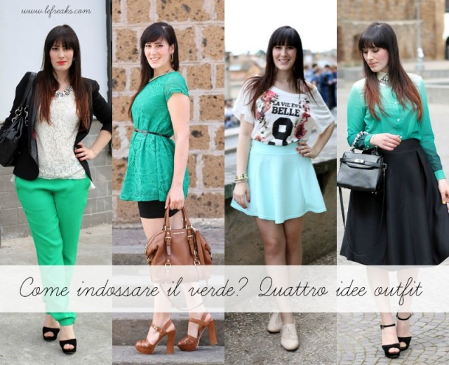 come indossare il verde idee outfit fashion blogger roma