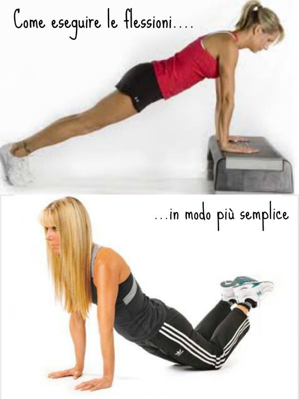 esercizi ginnastica braccia spalle fitness workout kayla itsines flessioni facili
