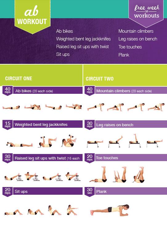 esercizi ginnastica addominali fitness workout kayla itsines