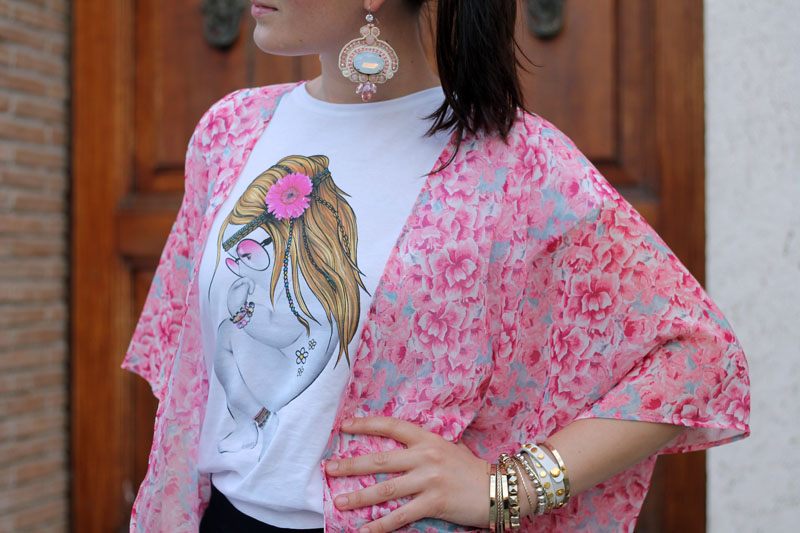 outfit fashion blogger siamoises tshirt hippie chic birkenstock