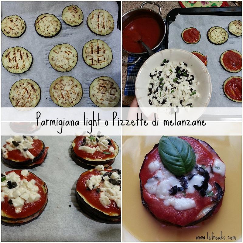 ricetta parmigiana light pizzette melanzane food blogger