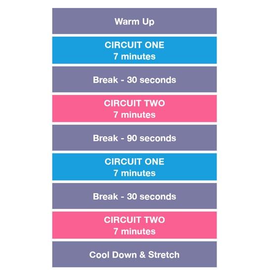 workout circuiti kayla itsines bikini body guide