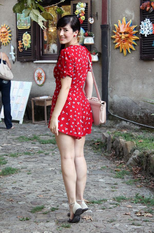 outfit estate tutina jumpsuit topshop castello santa severa roma