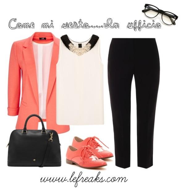 outfit ufficio look formale elegante blazer stringate