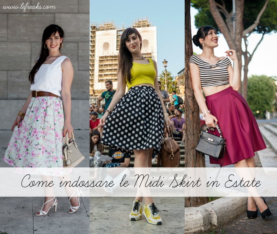 come indossare le midi skirt in estate idee outfit