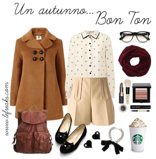 outfit autunno bon ton shorts fashion blog
