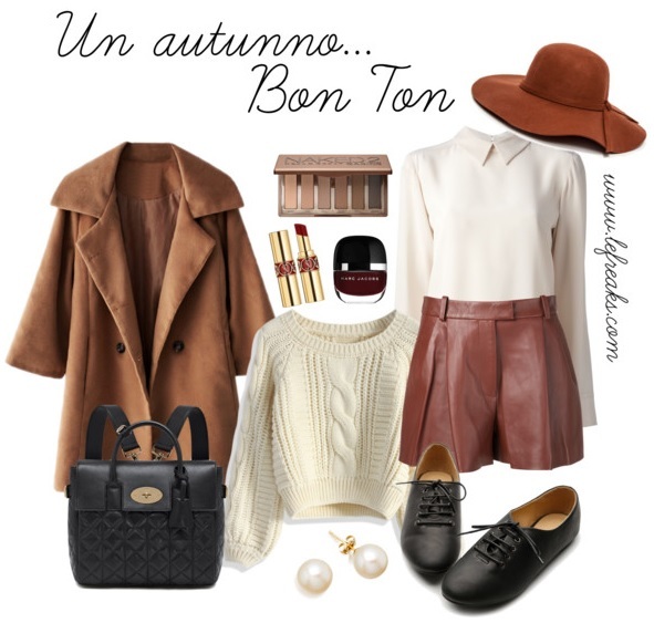 outfit autunno bon ton shorts fashion blog