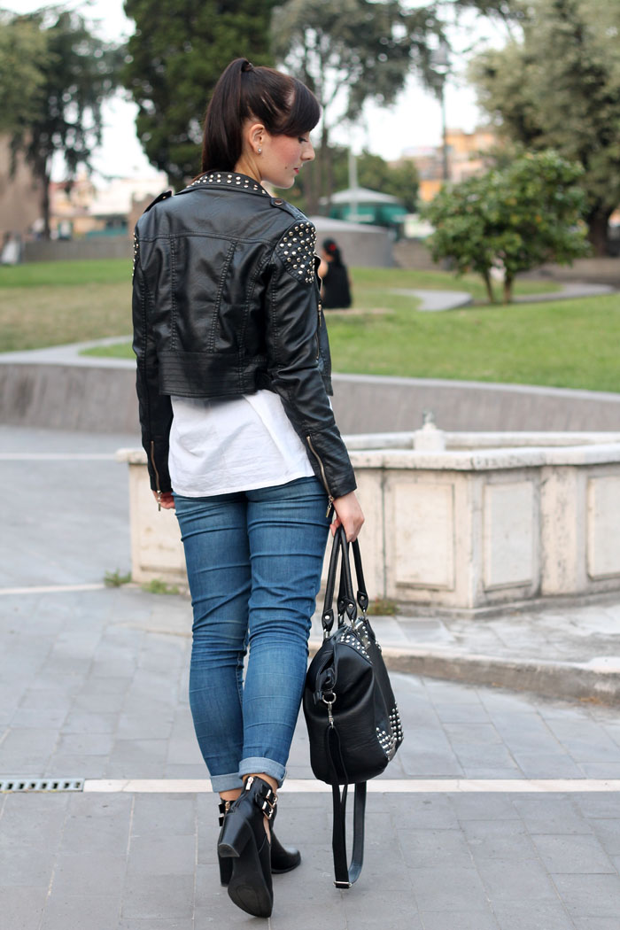 <outfit autunno cut out boots fashion blogger roma