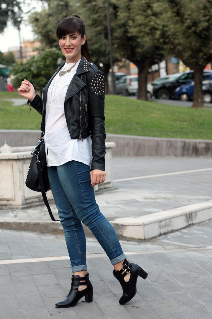 Molto Black&White: un outfit rock con i miei nuovi cut out boots | Le Freaks MJ74